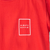 Mens-T-shirt-Always-Repin-Bachata-Red-Front-Closeup